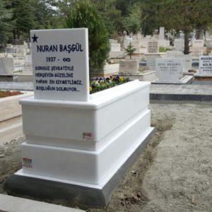 Bingöl Beyaz Mermer Mezar