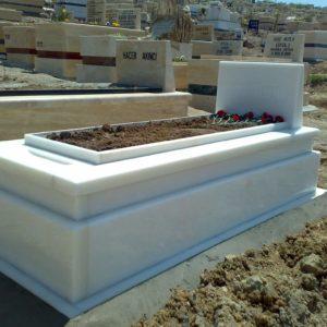 Haymana Beyaz Mermer Mezar