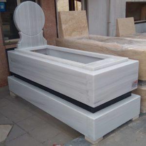 Cebeci Asri Mezarlığı Beyaz Mermer Mezar