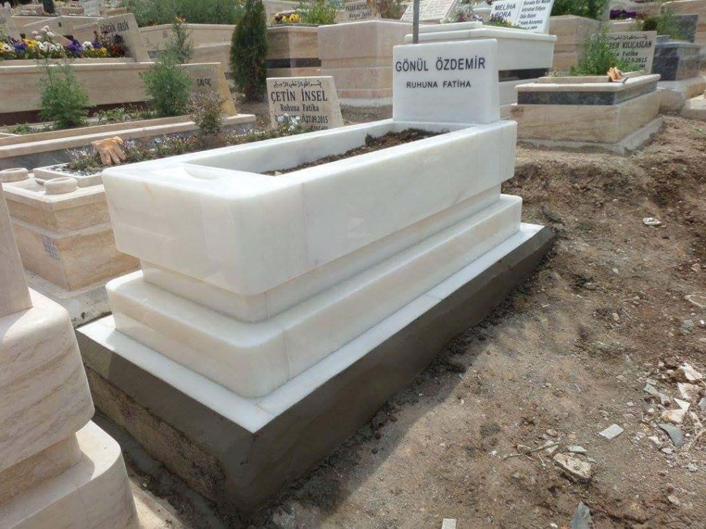 ortaköy beyaz mermer mezar
