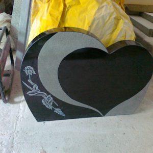 3 Boyutlu Granit Mezar Baş Taşı