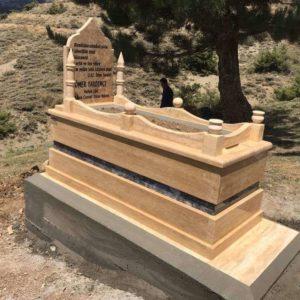 Polatlı Traverten Mermer Mezar