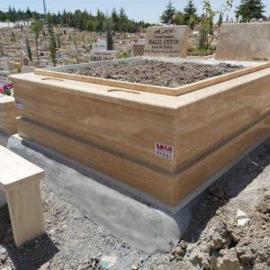 Denizli Traverten Mermer Mezar