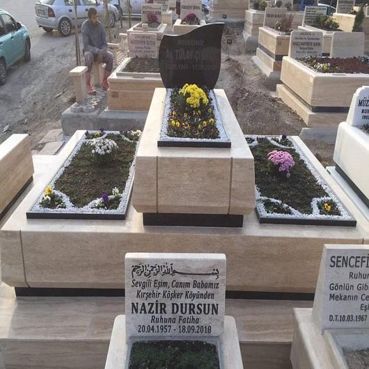 Blok Kalın Mermer Ankara Mezar Örnekleri
